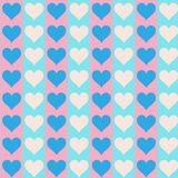 Lovely small hearts on blue and pink Royalty Free Stock Photography