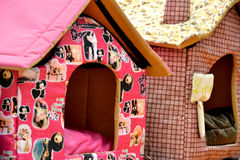 Lovely small house for pet. Colorful and lovely small house for pet, made by cloth Stock Photo