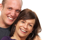 Lovely and smiling couple Royalty Free Stock Photography