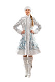 Lovely smiling Snow Maiden Stock Images