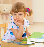 Lovely smiling toddler portrait Stock Photos