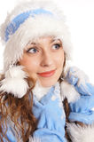 lovely snow maiden Stock Image