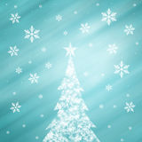 Lovely snowflake Christmas tree winter background Royalty Free Stock Photography