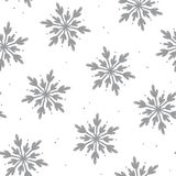 Lovely snowflake seamless pattern background Royalty Free Stock Image