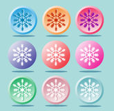 Lovely snowflakes. The icons for design. And decoration Royalty Free Stock Photography