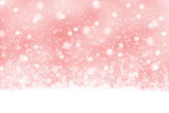 Lovely soft red snowfall background Royalty Free Stock Images