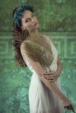 Lovely spring  female Stock Images