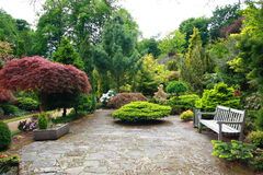 Lovely spring garden. Lovely, public spring garden, Scotland Stock Photo