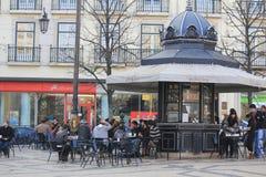 A lovely square in Barrio Alto in Lisbon Stock Photos