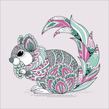 Lovely squirrel coloring page Stock Photography
