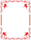 LOVELY stationary! eps / clip art / jpeg. A floral border with hearts and cupids! eps8 / clip art / jpeg Royalty Free Stock Image