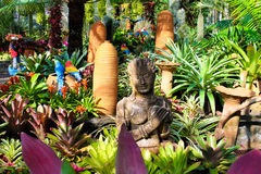 Lovely stay, park orchids, Thailand Royalty Free Stock Photos