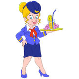 Lovely stewardess Royalty Free Stock Photo