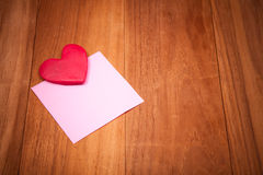 Lovely sticky note Royalty Free Stock Images