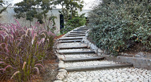 Pastoral Staircase in Urban Garden Royalty Free Stock Image