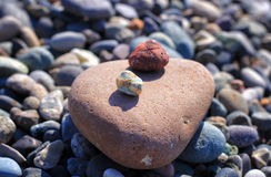 Lovely stones on the beach Royalty Free Stock Photos