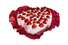 Lovely strawberry cake Royalty Free Stock Image