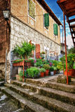 Lovely street of old mediterranean town Royalty Free Stock Photos