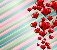 Lovely striped Valentine's day themed background. To use for invitation cards, love related posters, party flyers, love magazine covers and so on Stock Photography
