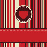 Lovely stripy card 70s retro template. EPS 8 Stock Photography