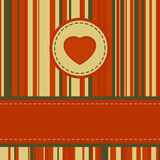 Lovely stripy card 70s retro template. EPS 8. File included Stock Image