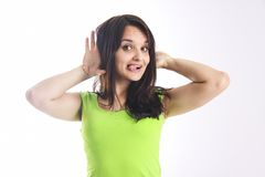 Lovely student Fooling aroud Stock Photography