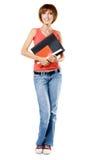 Lovely student girl Stock Images
