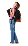 Lovely student girl royalty free stock photos