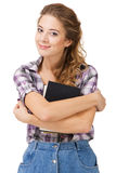 Lovely student girl with a book Stock Images