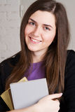 Lovely student girl with books Stock Photos