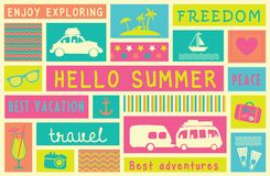 Colorful summer poster. Royalty Free Stock Images