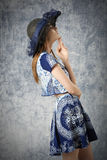 Lovely summer fashion girl Stock Photos
