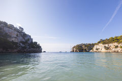Lovely and sunny beach day, Macarella, Minorca, Menorca, Baleari Stock Photography