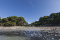 Lovely and sunny beach day, Macarella, Minorca, Menorca, Baleari Royalty Free Stock Images