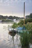 Lovely sunrise over river landscape on Norfolk Broads Royalty Free Stock Photography