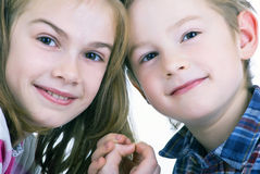 Lovely sweet kids Stock Photography