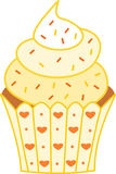 Lovely sweet yellow cupcake Royalty Free Stock Photo
