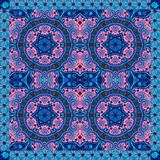 Lovely tablecloth. Bandana or silk neck scarf. Ornamental background with ethnic motifs. Stock Image