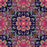 Lovely tablecloth or festive seamless pattern in oriental style. Vector illustration Royalty Free Stock Photography