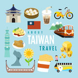 Lovely Taiwan specialties and attractions Royalty Free Stock Photo