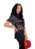 Lovely tall black woman. Stock Images