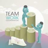 Lovely team work concept Stock Photo