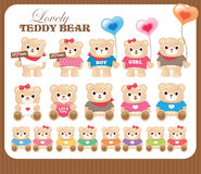Lovely teddy bears collection Stock Photography