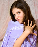 Lovely teen girl in dress Stock Images