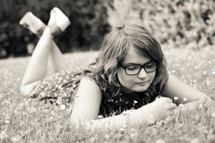 Lovely teen girl in nature Royalty Free Stock Photo