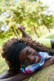 Lovely teenage black girl Royalty Free Stock Photo