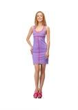 Lovely teenage girl in elegant dress Stock Photos