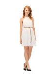 Lovely teenage girl in elegant dress Royalty Free Stock Images