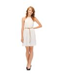 Lovely teenage girl in elegant dress Royalty Free Stock Photos