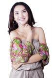 Lovely teenage girl imagine something Stock Image